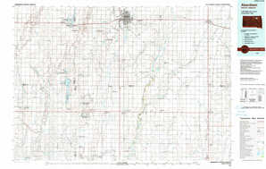 Aberdeen 1:250,000 scale USGS topographic map 45098a1