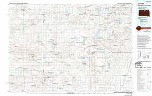 Eureka 1:250,000 scale USGS topographic map 45099e1