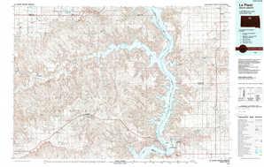 La Plant topographical map