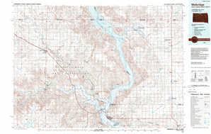 Mobridge topographical map