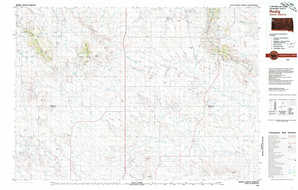 Redig topographical map