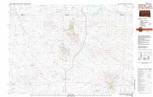 Camp Crook topographical map