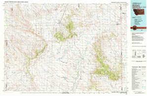 Ekalaka topographical map