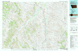 Broadus topographical map