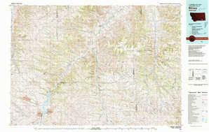 Birney topographical map