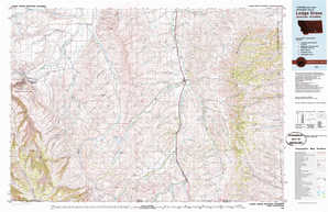 Lodge Grass topographical map