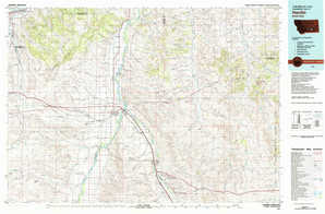 Hardin topographical map