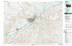 Billings topographical map