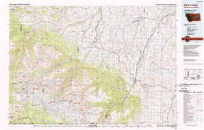 Red Lodge topographical map