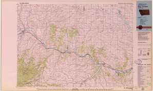 Big Timber topographical map
