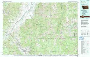 Gardiner topographical map