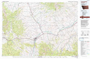 Livingston topographical map