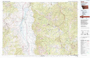 Ennis topographical map