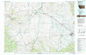 Bozeman topographical map