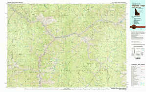 Bighorn Crags topographical map