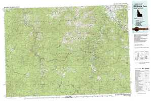Nez Perce Pass topographical map