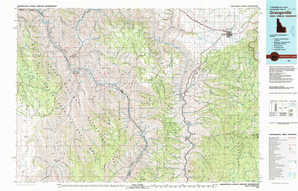 Grangeville topographical map