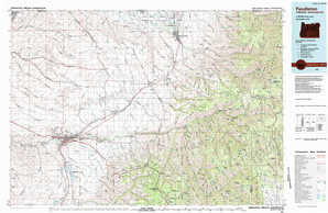 Pendleton topographical map