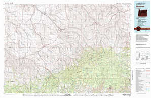 Heppner topographical map