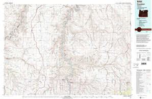 Condon topographical map