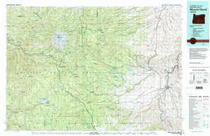 Mount Hood topographical map