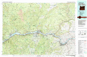 Hood River topographical map