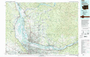 Vancouver topographical map