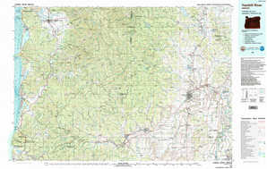 Yamhill River topographical map