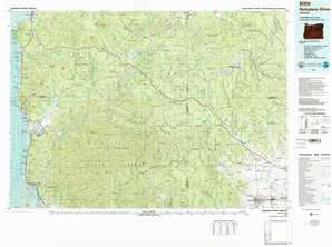 Nehalem River topographical map