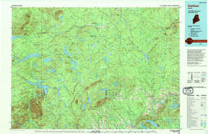 Oakfield topographical map