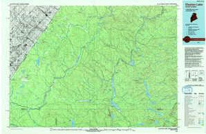 Clayton Lake topographical map