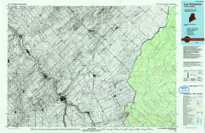 Lac Etchemin topographical map