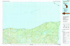Two Hearted River topographical map