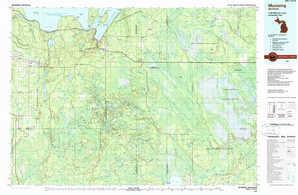 Munising topographical map