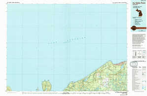 Au Sable Point topographical map