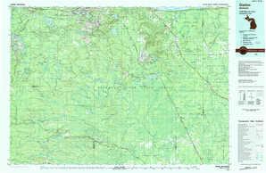 Gwinn topographical map