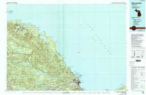 Marquette topographical map