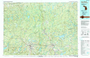 Iron River topographical map