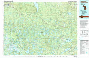 Wakefield topographical map