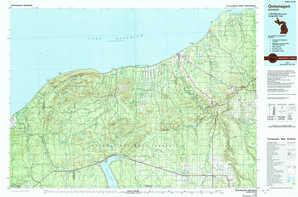 Ontonagon topographical map