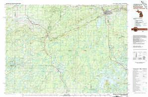 Ironwood topographical map