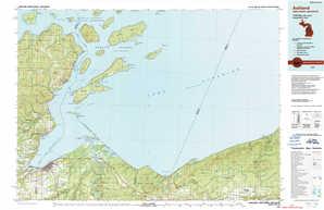 Ashland topographical map