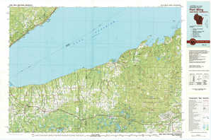 Port Wing topographical map