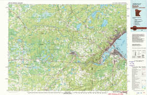 Duluth 1:250,000 scale USGS topographic map 46092e1