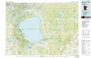 Mille Lacs Lake topographical map