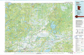 Aitkin topographical map