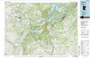 Brainerd topographical map