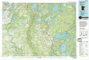 Pine River topographical map