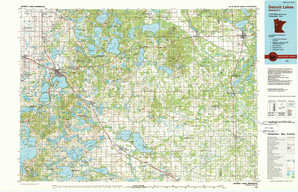 Detroit Lakes topographical map