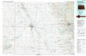 Wahpeton topographical map